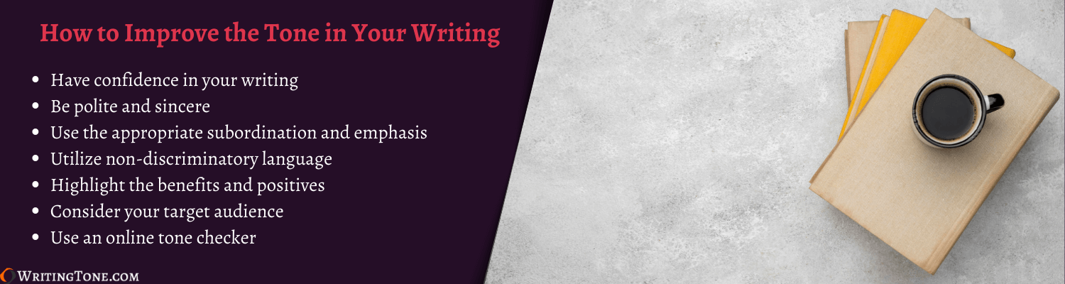 how to fix tone issues in writing