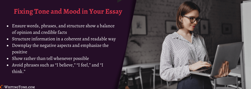 fixing tone in your paper with essay tone checker